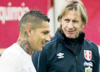Paolo Guerrero y Ricardo Gareca