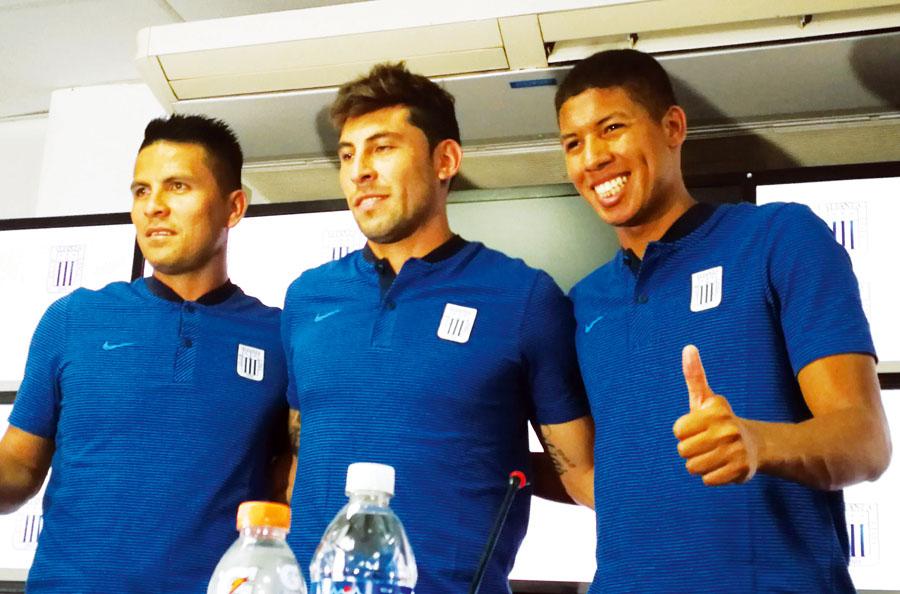 Mario Velarde, Jose Guidino y Janio Posito