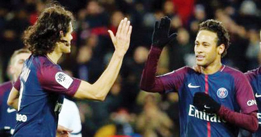 Neymar y Edinson Cavani