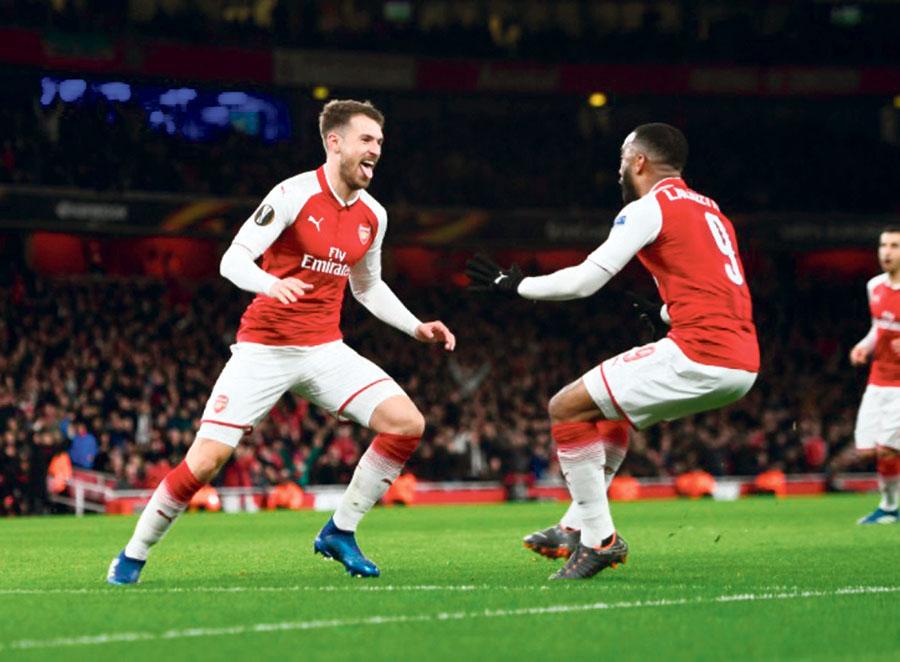 Arsenal de Arséne Wenger goleó 4-1 al CSKA Moscú de Rusia