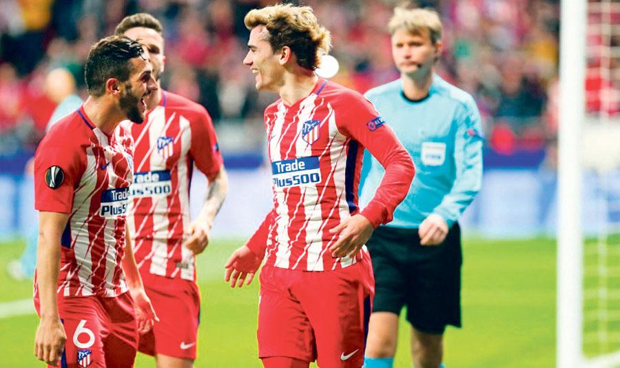 tlético de Madrid venció 2-0 al Sporting en la Europa Liga