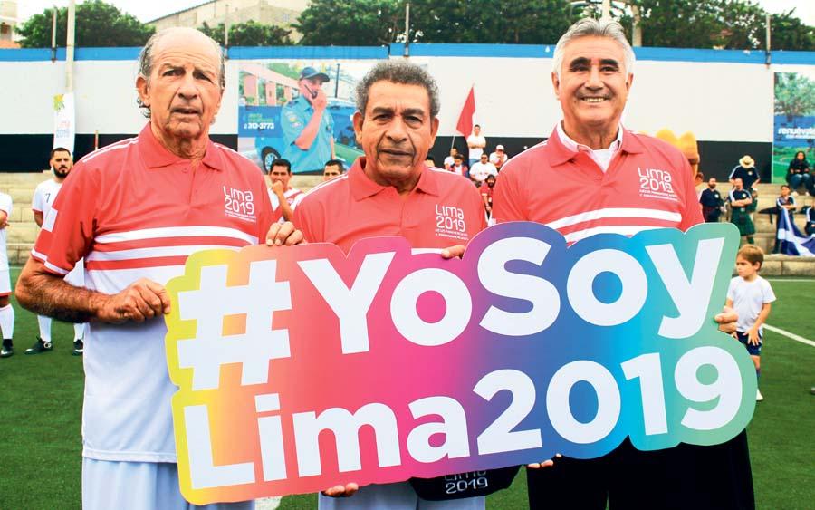 Héctor Chumpitaz y Percy Rojas, se sumaron como Embajadores de Lima 2019, al igual que Jorge 'Chupo' Arriola