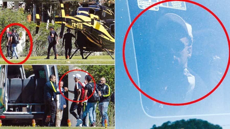 Neymar arribó a la concentración de Brasil en helicóptero
