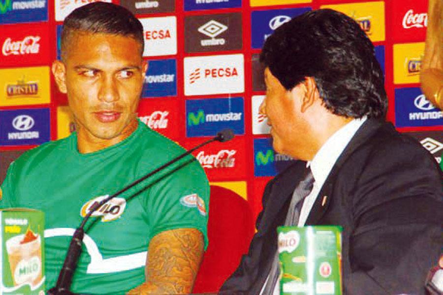 Paolo Guerrero se reunió con Edwin Oviedo