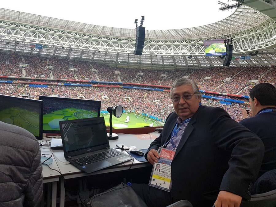 Fernando Jimenez en el Mundial de Rusia 2018