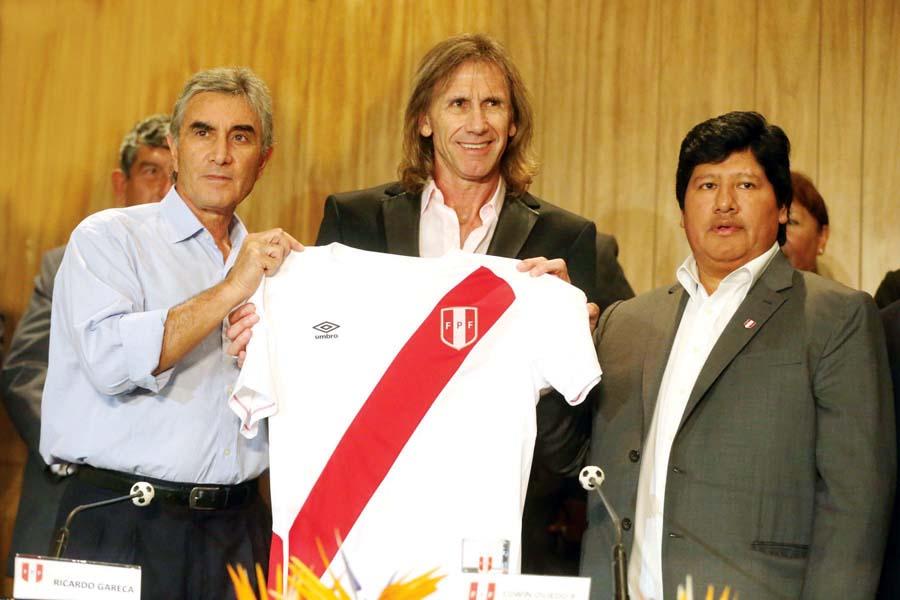 Juan Carlos Oblitas, Ricardo Gareca y Edwin Oviedo