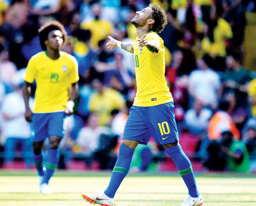 Neymar marcó un golazo en su regreso a las Canchas frente a Croacia
