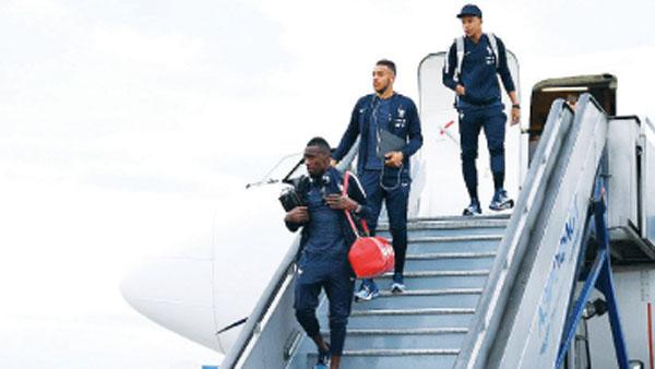 Selección francesa arribo a Rusia