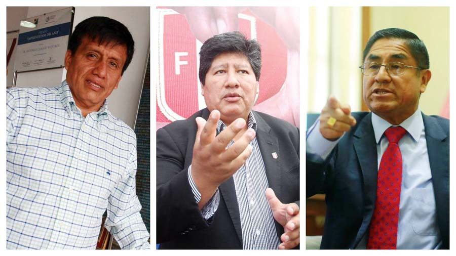 Antonio Camayo, Edwin Oviedo e Hinostroza