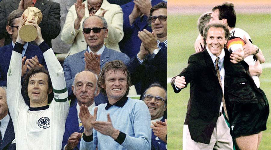 El 'Kaiser' Franz Beckenbauer levantó la Copa en Alemania 1974 y como técnico hizo lo mismo en 1990