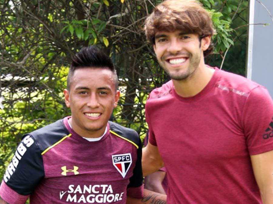 Kaká y Christian Cueva