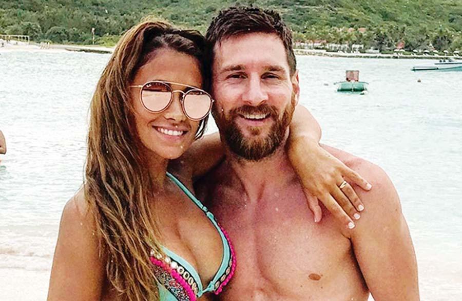 Lionel Messi y su esposa Antontella Roccuzzo