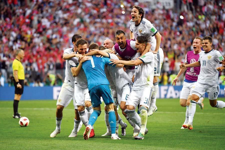 Selección rusa venció a España por penales