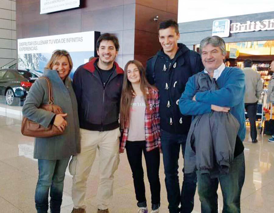 El charrúa Mauricio Affonso, extraña a su familia que pronto lo visitarán