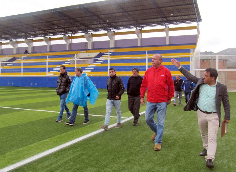 El estadio Juan Maldonado de Cutervo cuando fue inspeccionado