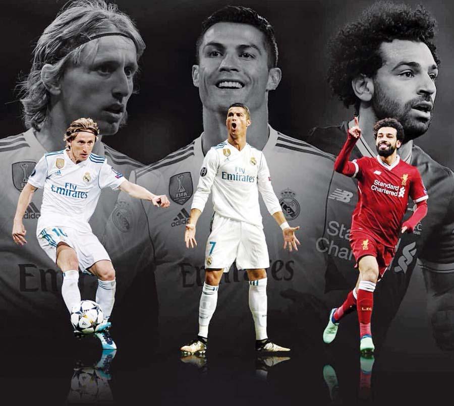 Entre Luka Modric, Cristiano Ronaldo y Mohamed Salah saldrá el mejor jugador del año