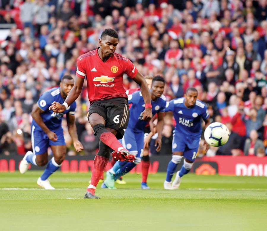 Manchester United venció 2-1 al Leicester City