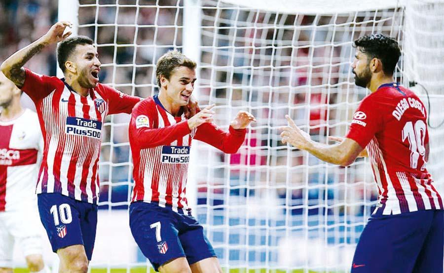 Atlético de Madrid goleó 3-0 al Huesca