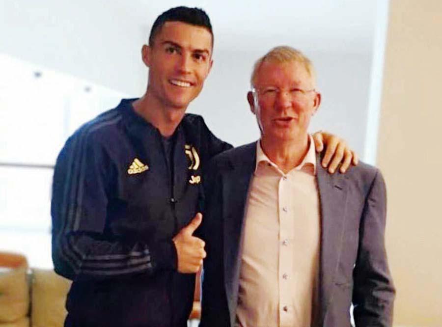 Cristiano Ronaldo se reencontró con su ex-técnico Sir Alex Ferguson