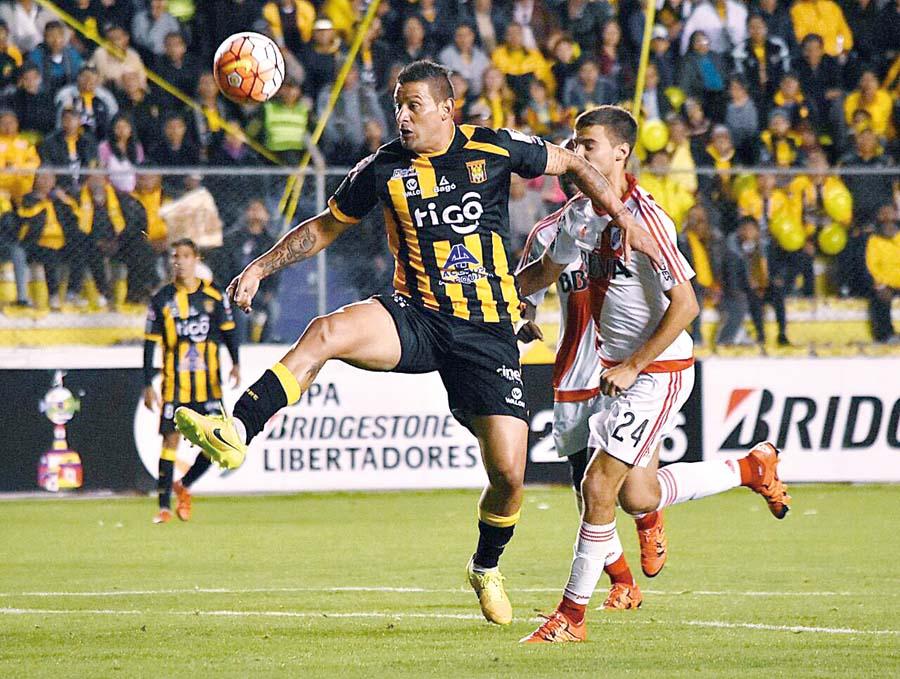 El delantero paraguayo jugó por varios clubes en Bolivia