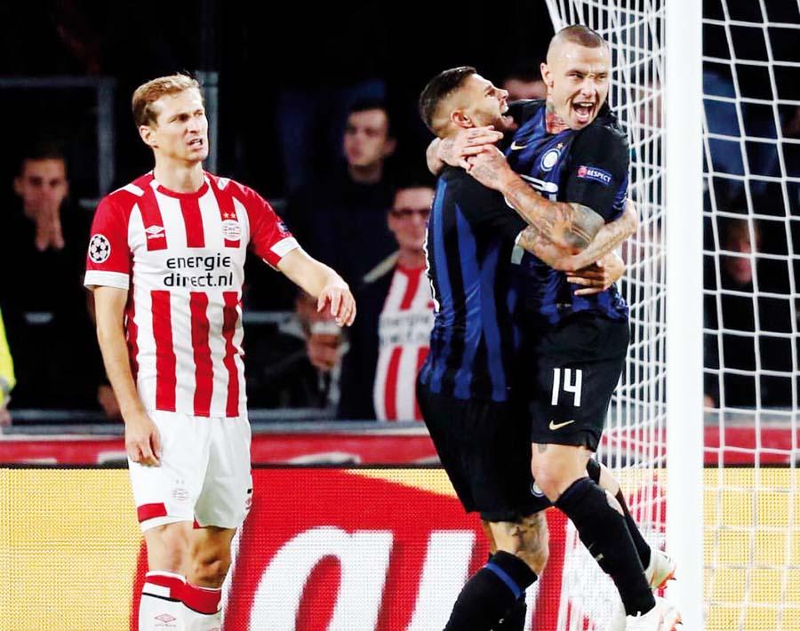 Inter ganó 2-1 al PSV