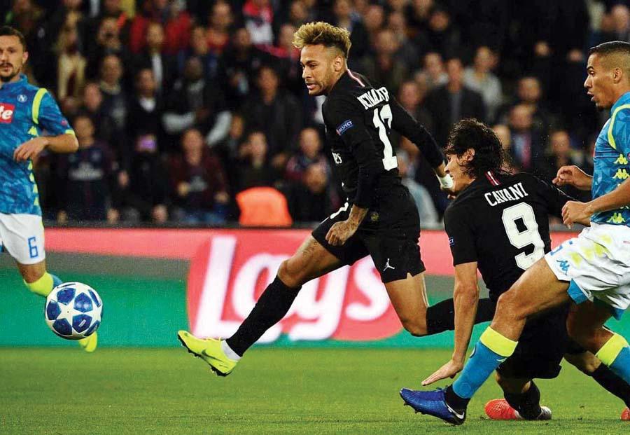 PSG empato 2-2 ante el Napoli