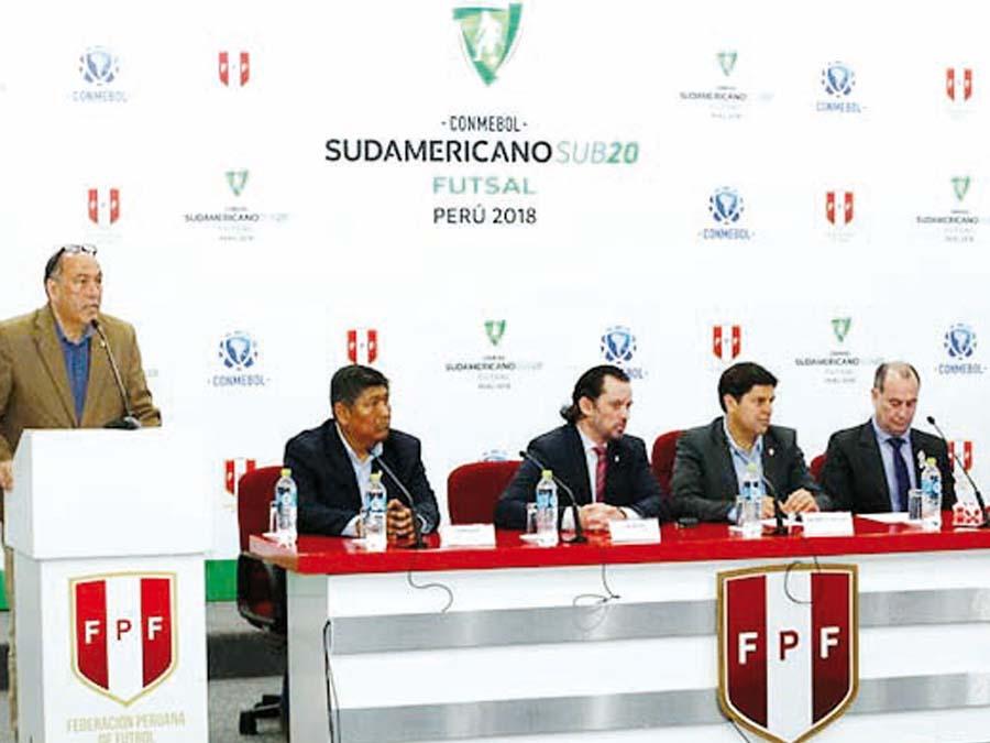Sorteó Sudamericano Sub 20 de Futsal