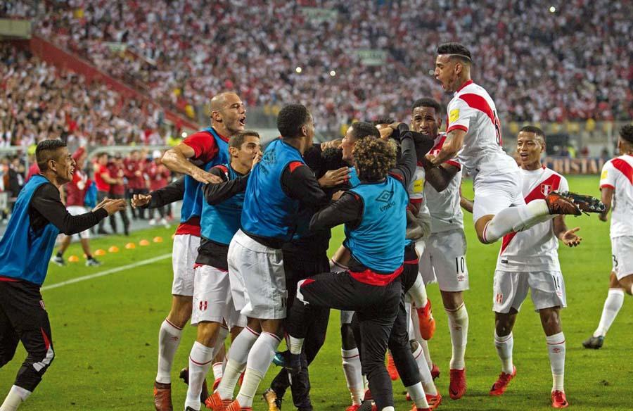 Así se vio el festejo del segundo gol que lo hizo Christian Ramos