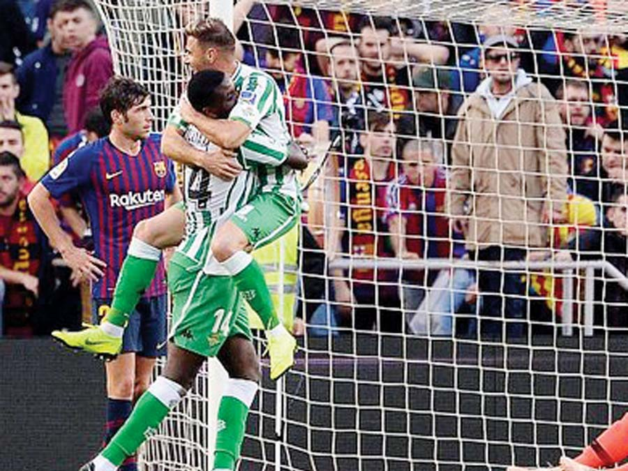 Barcelona cayó 4-3 ante Betis