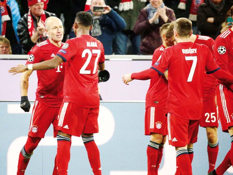 Bayern vencio 5-1 al Benfica