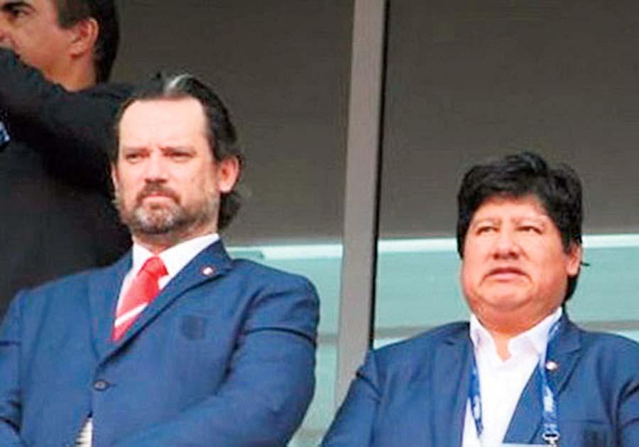 Edwin Oviedo y Juan Matute