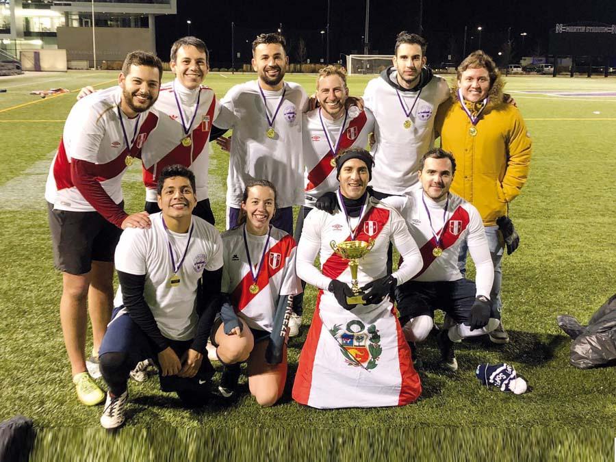 """Equipo peruano ganador de la """"Copa América"""" organizada por Club Kellog FC"""