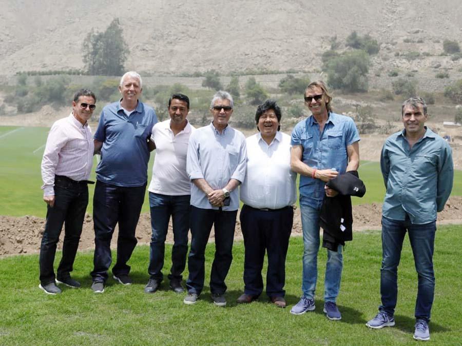 Gareca reconoció campos de nueva Videna en Chosica junto a Oviedo