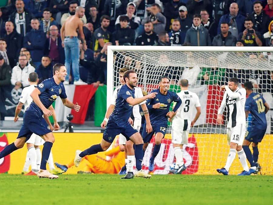 Manchester United le volteó el partido a la Juventus