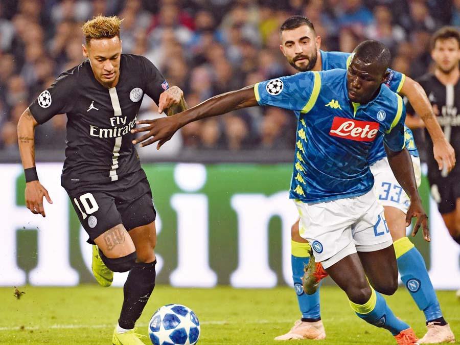 Napoli y PSG empataron 1-1