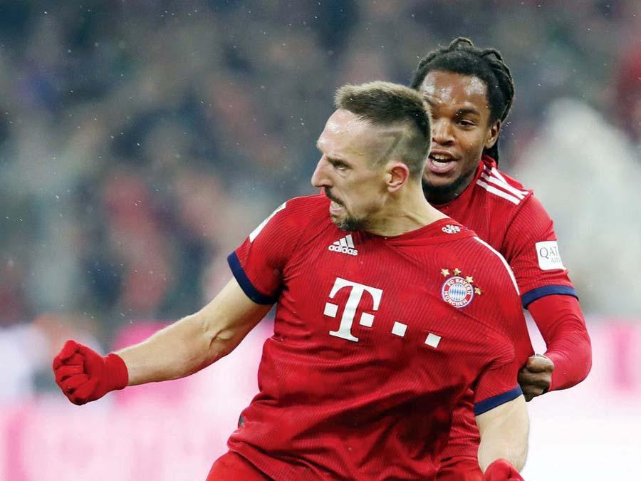 Bayern venció 1-0 al Leipzig con gol de Franck Ribery