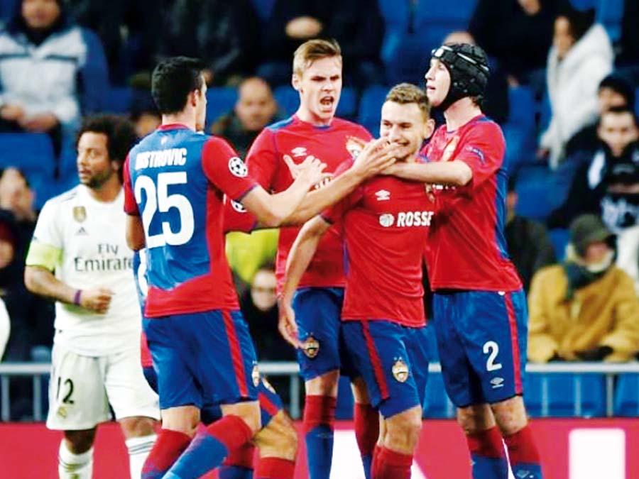 Real Madrid perdió en el Santiago Bernabéu 3-0 ante el CSKA Moscú