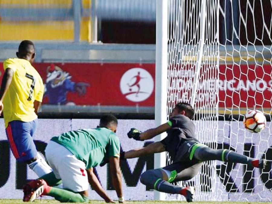 Colombia superó 1-0 a Bolivia