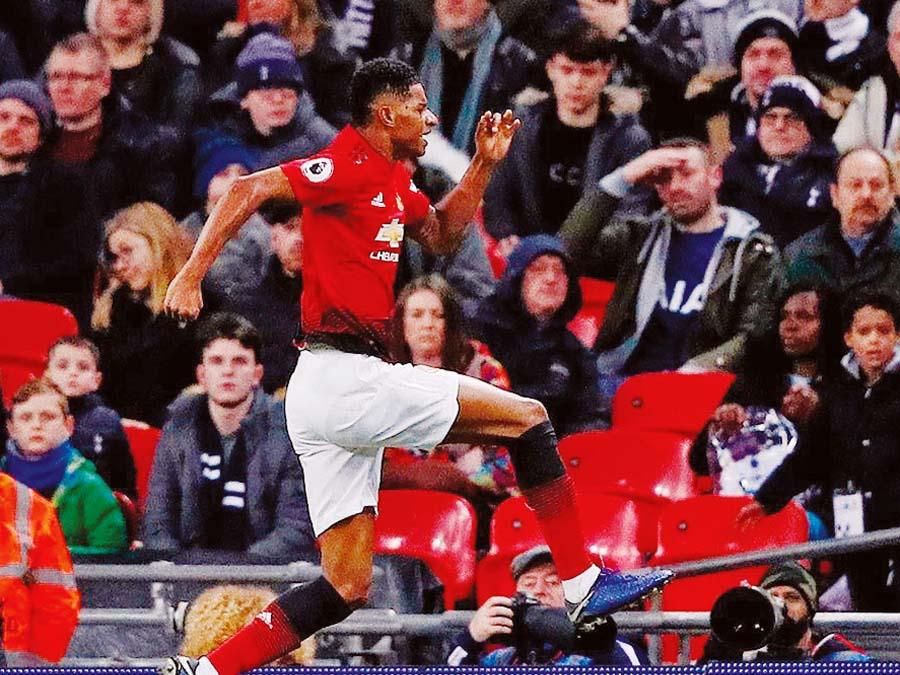 Manchester United venció 1-0 al Tottenham
