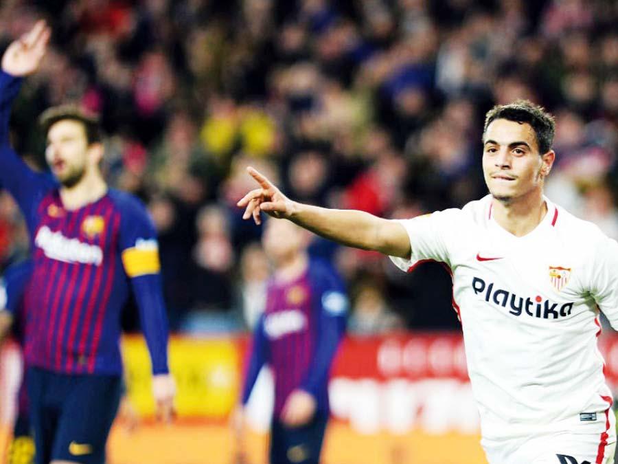 Sevilla venció 2-0 al Barcelona