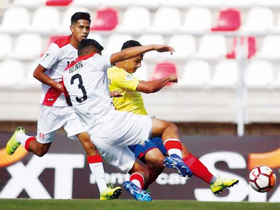 Sub 20 de Perú cayó ante Ecuador 3-1