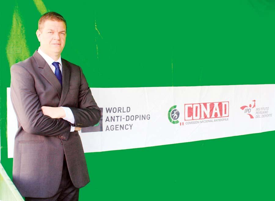 Titular de la Comisión Nacional Antidopaje de Perú (CONAD), Carlos Zegarra Presser