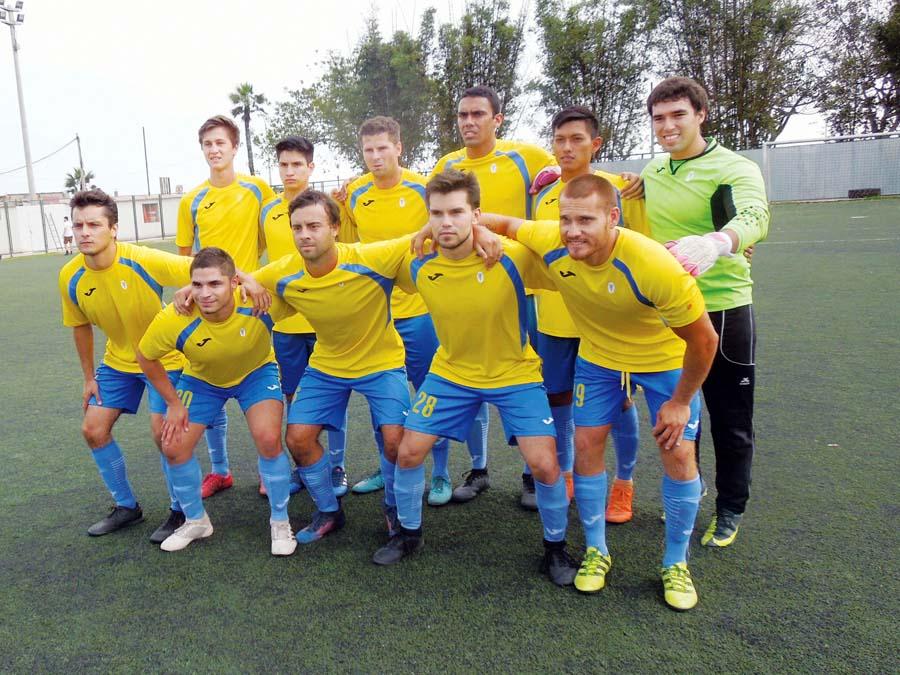 Gardenias FC que le ganó 3-2 a Real Club de Lima en San Isidro