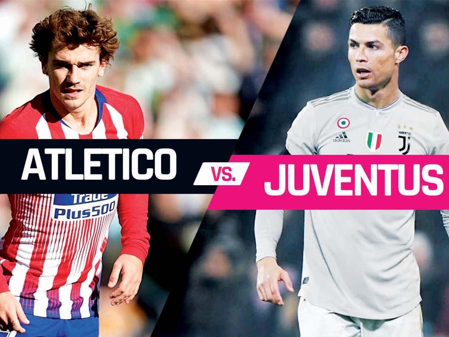 Juventus enfrenta al Atlético de Madrid