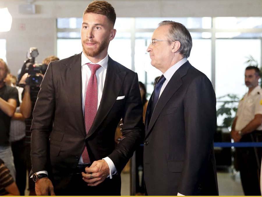 Sergio Ramos, y el presidente Florentino Pérez, protagonizaron una acalorada discusión