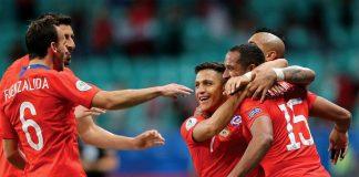 Chile venció 2-1 a Ecuador