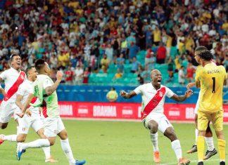 Perú se impuso 5-4 a Uruguay en los penales