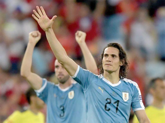 Con su gol, Uruguay venció 1-0 a Chile y terminó primero en su grupo. Ahora, juegan ante Perú en cuartos