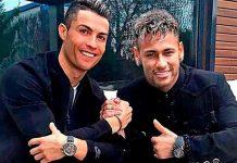 Neymar con Cristiano Ronaldo