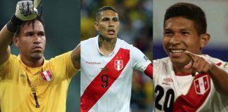 Pedro Gallese, Edison Flores y Paolo Guerrero